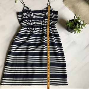 J. Crew navy and white striped dress